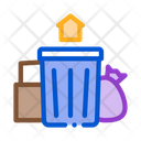 Trash Can Home Icon