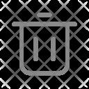 Trash Delete Cut Icon
