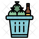 Trash Bin Basket Icon