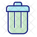 Trash Can Bin Recycle Icon