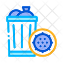 Infection Bacteria Trash Icon