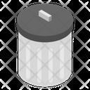 Trash Bin Dustbin Wastebin Icon