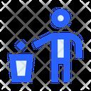 Human People Trash Bin Icon