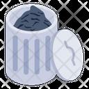 Trash Bin Dustbin Garbage Can Icon