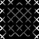 Trash Bin Dustbin Remove Icon