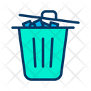 Trash Bin Dustbin Garbage Icon