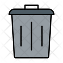 Trash Can Garbage Can Rubbish Bin Icon