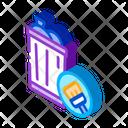 Rubbish Trash Can Icon