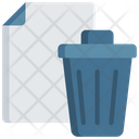 Trash Document Bin Note Icon