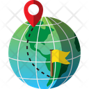 Destination Global Map Icon