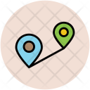 Travel Distance Location Icon