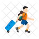 Travel Carrying Luggage Icon