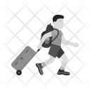 Carrying Luggage Travel Icon