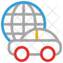 Travel Car Globe Icon