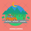 Homecoming Car Road Icon