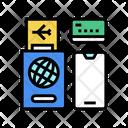 International Passport Ticket Icon