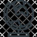 Travel Tourism Globe Icon