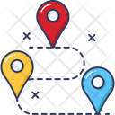 Travel Tour Map Icon