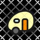 Travel Trailer Caravan Icon
