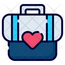 Travel Bag School Bag Backpack Icon