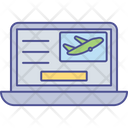 E Ticketing Flight Reservation Online Booking Icon