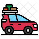 Car Travel Camping Icon