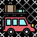Car Baggage Vacation Icon