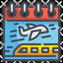 Travel Day Transportation Plane Icon