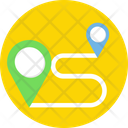 Travel Distance Location Pins Location Pointers Icon