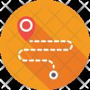 Travel Distance Gps Icon