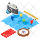 Travel Equipment Travel Plan Travelling Itinerary Icon