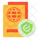 Insurance Travel Security Icon