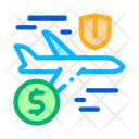 Airplane Travel Insurance Icon