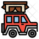 Jeep Car Camping Icon