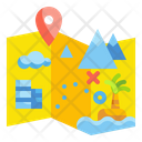 Travel Map Forest Map Map Icon
