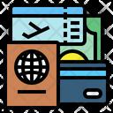 Passport Credit Card Ticket Icon