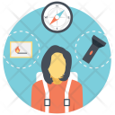 Traveling Planning Journey Icon