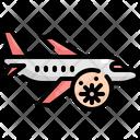 Airplane Plane Virus Icon