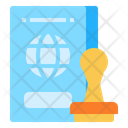 Stamp Pass Travel Icon