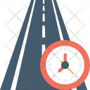 Road Clock Highway Icon