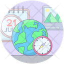 Travel Time Global Planning Travel Plan Icon