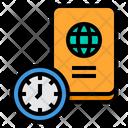 Passport Travel Time Icon