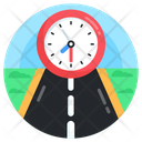 Journey Time Travel Time Highway Icon