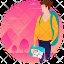 Tourist Traveller Hiking Icon