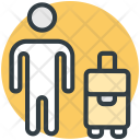 Traveler Tourist Passenger Icon