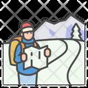 Winter Map Tourist Icon