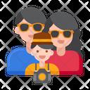 Traveler Family Family Tour Family Travel Icon