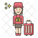 Traveler Female Female Woman Icon