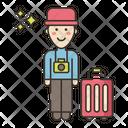Traveler Male Male Man Icon