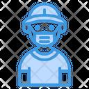 Traveler With Mask Icon